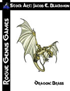 Stock Art: Blackmon Dragon, Brass