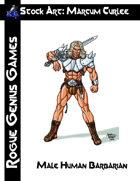 Stock Art: Curlee Male Human Barbarian