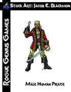 Stock Art: Blackmon Male Human Pirate
