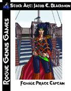 Stock Art: Blackmon Female Pirate Captain