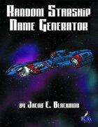 Random Starship Name Generator