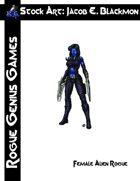 Stock Art: Blackmon Female Alien Rogue