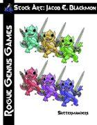 Stock Art: Blackmon Skittermanders 7 Colors