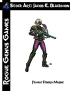 Stock Art: Blackmon Female Cyborg Marine
