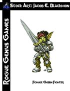 Stock Art: Blackmon Female Goblin Fighter