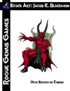 Stock Art: Blackmon Demon Seated on Throne