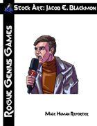 Stock Art: Blackmon Human Male Reporter