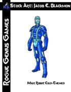 Stock Art: Blackmon Male Robot, Cold-Themed