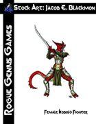 Stock Art: Blackmon Female Kobold Fighter