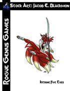 Stock Art: Blackmon Kitsune Five-Tails