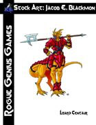 Stock Art: Blackmon Lizardman Centaur