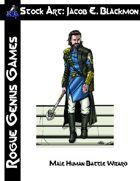 Stock Art: Blackmon Male Human Battle Wizard