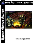 Stock Art: Blackmon Scene Campfire Group