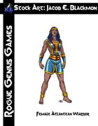 Stock Art: Blackmon Female Atlantean Warrior