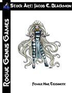 Stock Art: Blackmon Female Hair Telekinetic