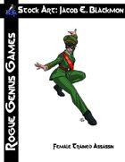 Stock Art: Blackmon Female Trained Assassin