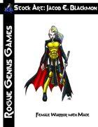 Stock Art: Blackmon Female Warrior with Mace
