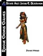 Stock Art: Blackmon Female Wizard