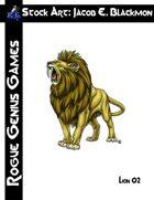 Stock Art: Blackmon Lion 02