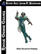 Stock Art: Blackmon Male Atlantean Warrior