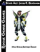 Stock Art: Blackmon Male Stellar Butterfly Knight