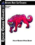 Stock Art: Courts Hawk-Beaked Moon Beast