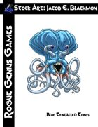 Stock Art: Blackmon Blue Tentacled Thing