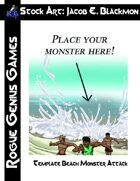 Stock Art: Blackmon Beach Monster Attack Template