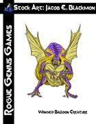 Stock Art: Blackmon Winged Balloon Creature