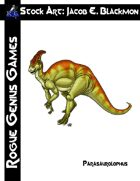 Stock Art: Blackmon Dinosaur Parasaurolophus