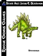 Stock Art: Blackmon Stegosaurus
