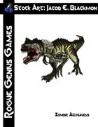Stock Art: Blackmon Zombie Allosaurus