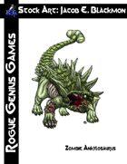 Stock Art: Blackmon Zombie Ankylosaurus