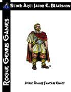 Stock Art: Blackmon Male Dwarf Fantasy Envoy