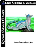 Stock Art: Blackmon Otter Dragon Adult Blue
