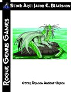 Stock Art: Blackmon Otter Dragon Ancient Green