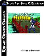 Stock Art: Blackmon Samurai vs Shieldwall