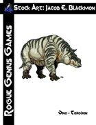 Stock Art: Blackmon Dino - Toxodon