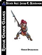 Stock Art: Blackmon Gnome Spearwoman