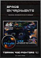 Space Environment Terran Void Fighter spaceship set