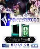 Manifestation CCS: Future Age (Series I) Style 02 - Color Scheme 2 [Sci-Fi Card Game Design Border]