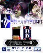 Manifestation CCS: Future Age (Series I) Style 02 - Color Scheme 1 [Futuristic Trading Card Game Template]
