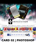 Card 02 - Styles & Effects (Modern Age) Photoshop + Gimp | Card Design Border for Prototypes |