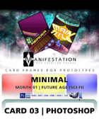 Card 03 - Minimal (Future Age) Photoshop + Gimp | Card Design Template for Prototyping |