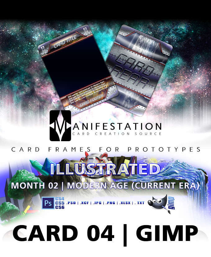 card 04 illustrated modern age gimp card game design template