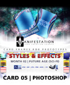 Card 05 - Styles & Effects (Future Age) Photoshop + Gimp | Card Design Border for Prototypes |