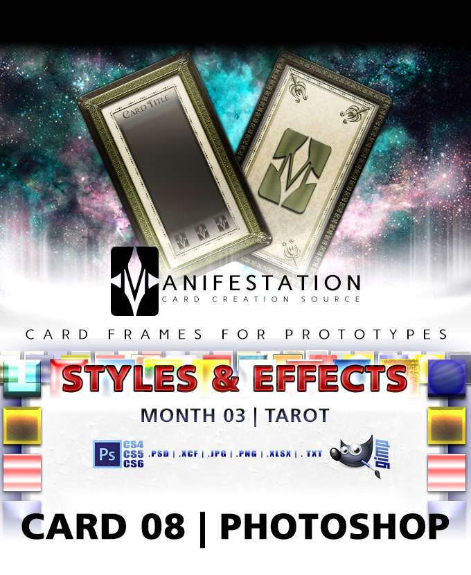 Card 08 - Styles & Effects (Tarot) Photoshop + Gimp | Card Game Design  Template for Play-testing | - Unknown Depths | DriveThruRPG com