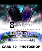 Card 10 - Illustrated (Tarot) Photoshop + Gimp   Card Game Design Template for Play-testing  
