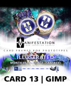 Card 13 - Illustrated (Modern Age) Gimp | Card Game Design Template for Play-testing |