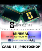 Card 15 - Minimal (Future Age) Photoshop + Gimp | Card Design Border for Prototypes |